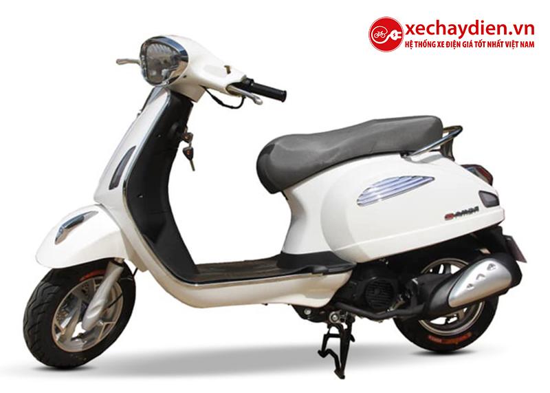 Xe ga 50cc Roma SE chính hãng DKBIKE màu trắng
