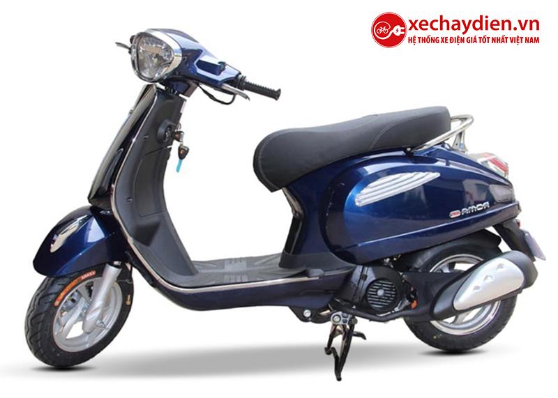 Xe ga 50cc Roma SE chính hãng DKBIKE màu xanh cửu long