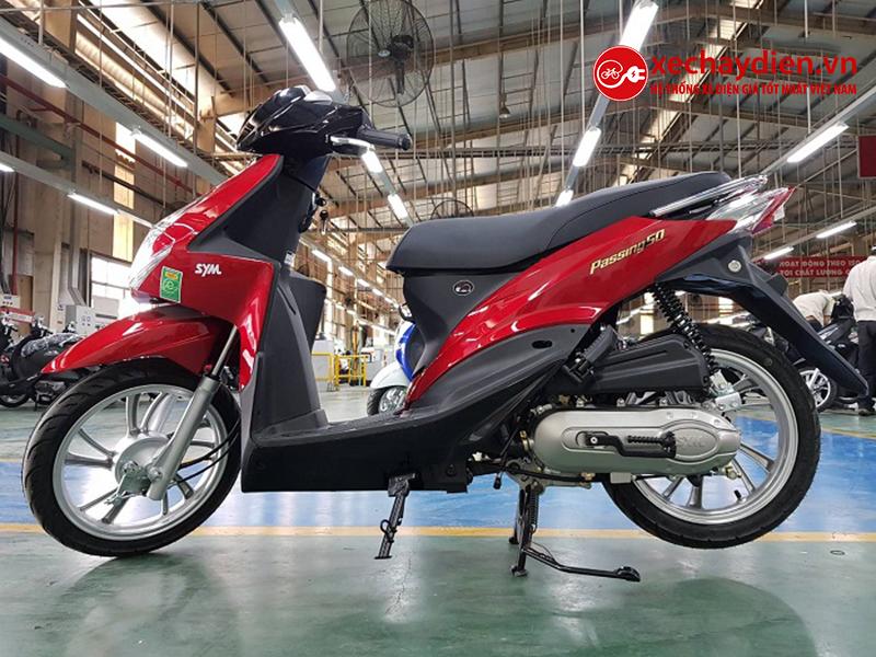 Xe ga 50cc Passing SYM mới nhất màu đỏ