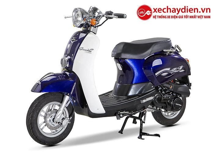 Xe ga 50cc Scoopy Việt Thái màu xanh